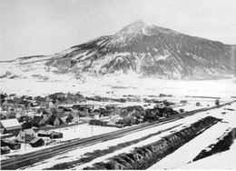 Circa 1930-1940, Abandoned Coke Ovens in Foreground with Crested Butte Mountain in Background, Photo Courtesy of Colorado Historical Society
